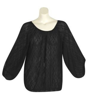 Black Lucky Lace Top