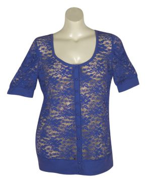 Blue Lucy Lace Cardigan