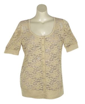Sand Lucy Lace Cardigan
