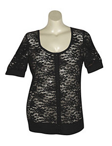 Black Lucy Lace Cardigan by Derek Heart