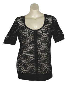 Black Lucy Lace Cardigan