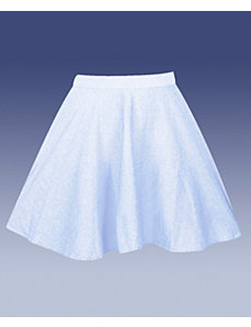 Light Blue Chambry Skirt by Derek Heart