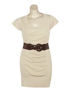 Belted Knit Dress by Derek Heart