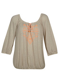 Sand Pure Peasant Top by Derek Heart