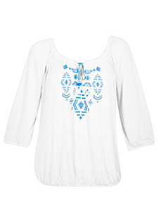 White Pure Peasant Top by Derek Heart