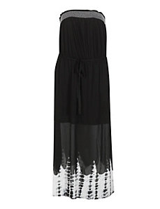Black Tie Dye Border Maxi Dress by Derek Lonely Heart
