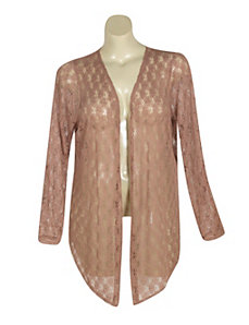 Taupe Crochet Cardigan by French Laundry