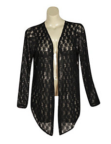 Black Crochet Cardigan by French Laundry