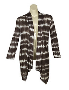 Brown Tie Dye Cardigan by French Laundry
