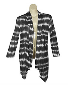 Grey Tie Dye Cardigan by French Laundry