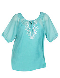 Paradise Peasant Top by French Laundry