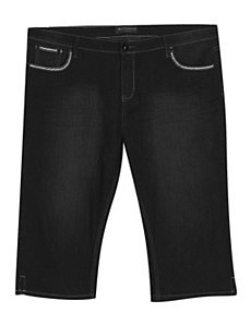 Black Jean Capri by Blu Vineyard