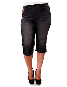 Black Just Jeans Capri by Blu Vineyard