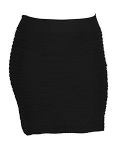 Black All Night Skirt by Icon Apparel
