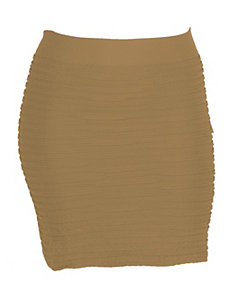 Khaki All Night Skirt by Icon Apparel