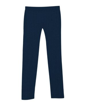 Navy Cable Legging