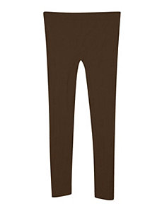 Brown Textured Legging by Icon Apparel