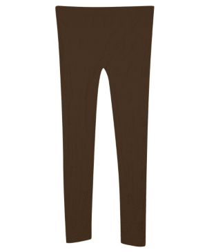 Brown Textured Legging