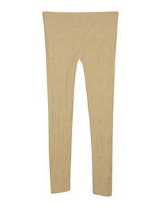Khaki Textured Legging by Icon Apparel