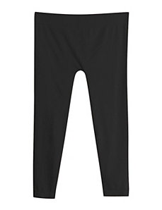 Black Cotton Capri by Icon Apparel