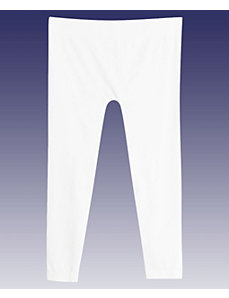 White Cotton Capri by Icon Apparel