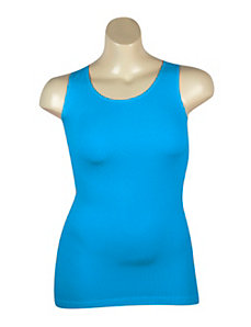 Blue Ribbed Tank by Icon Apparel
