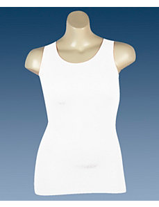 White Ribbed Tank by Icon Apparel