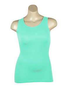 Green Ribbed Tank by Icon Apparel