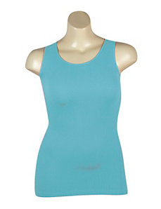 Turquoise Ribbed Tank by Icon Apparel