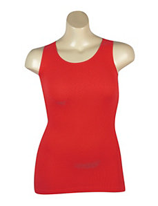Red Ribbed Tank by Icon Apparel