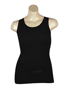 Black Ribbed Tank by Icon Apparel