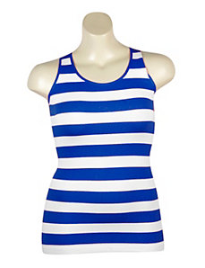 Royal Stripe Ribbed Tank by Icon Apparel