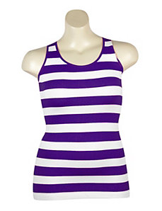 Purple Stripe Ribbed Tank by Icon Apparel
