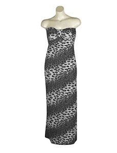 Grey Coastal Maxi Dress by Fashion Instincts