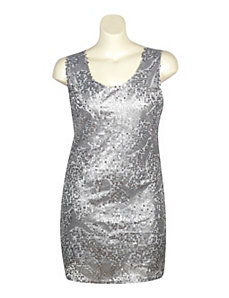 Silver Sequin Dress by Fashion Instincts