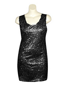 Black Sequin Dress by Fashion Instincts