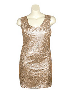 Gold Sequin Dress by Fashion Instincts