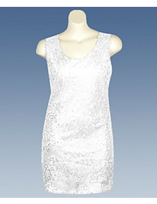 White Sequin Dress by Fashion Instincts