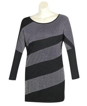 Black Color Slice Dress