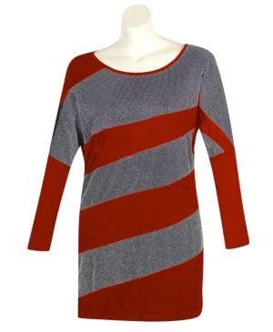Red Color Slice Dress