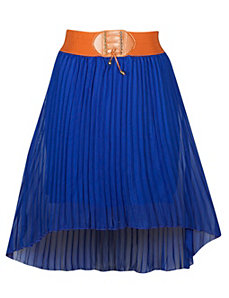 Hi Low Pleated Skirt by Meetu Magic