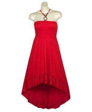 Red Hi Low Maxi Dress