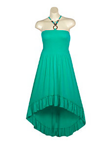Green Hi Low Maxi Dress by Meetu Magic