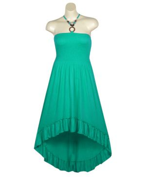 Green Hi Low Maxi Dress