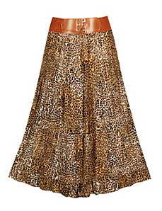 Animal Print Maxi Skirt by Meetu Magic