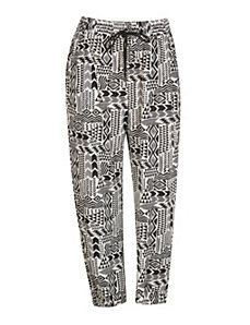 Black Print Harem Pants by Meetu Magic