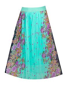Floral Mirror Print Full Skirt by Meetu Magic