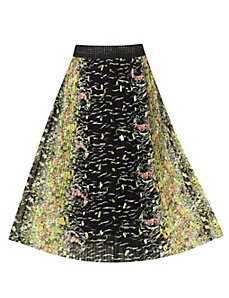 Be Black Mirror Print Maxi Skirt by Meetu Magic