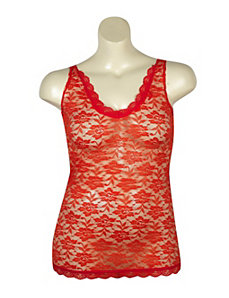 Red Love Lace Tank by Just One