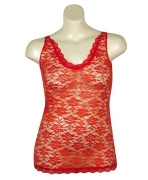 Red Love Lace Tank